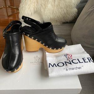 Moncler Fur-Lined Mules